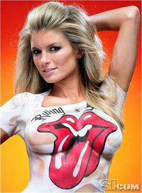 Marisa Miller in body paint - breasts