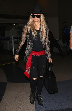 Fergie arriving at LAX, June 11, 2014