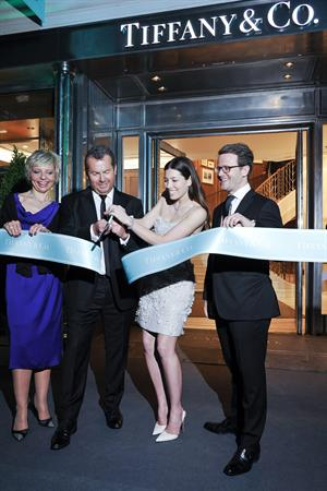 Jessica Biel attends the opening of the new flagship Tiffany  Co store in Paris, June 10, 2014