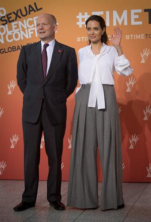 Angelina Jolie attends the End Sexual Violence in Conflict summit in London second day, June 11, 2014