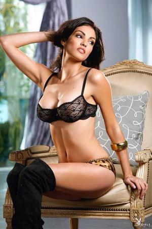 Nadia Moore in lingerie