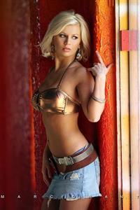 Amanda English in a bikini