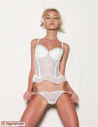Anna Sbitnaya in lingerie