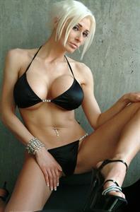Marie-Claude Bourbonnais in a bikini
