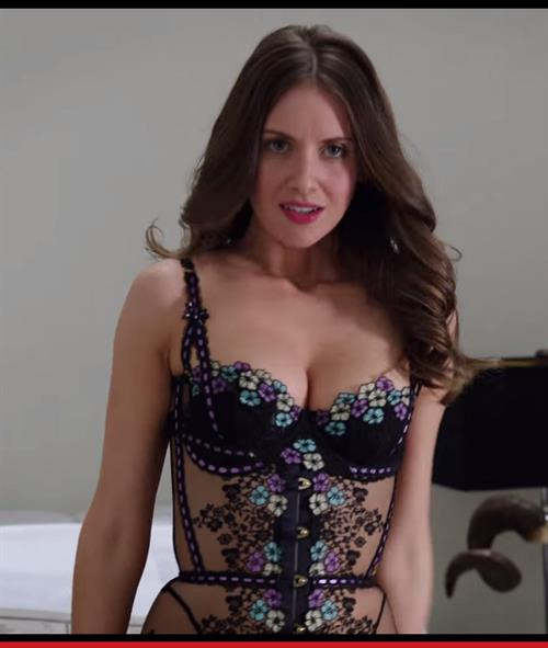 Alison Brie in lingerie