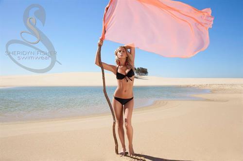 Sheridyn Fisher in a bikini