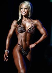 Nicole Wilkins in a bikini