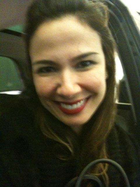Luciana Gimenez taking a selfie