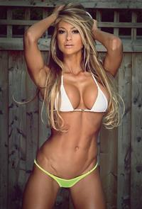 Laura Michelle Prestin in a bikini
