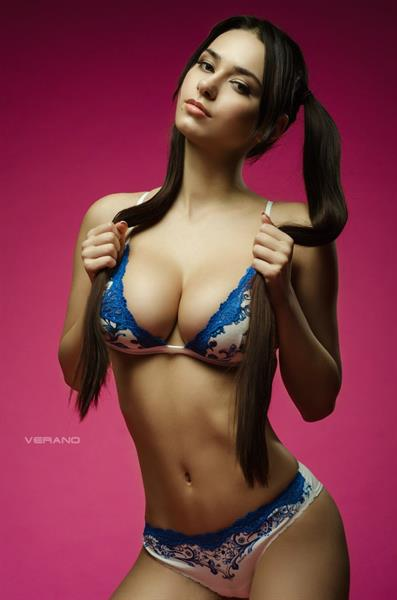 Helga Lovekaty in lingerie