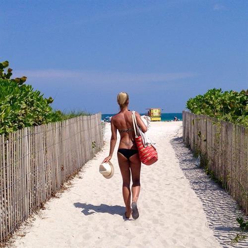 Adrienne Koleszár in a bikini - ass