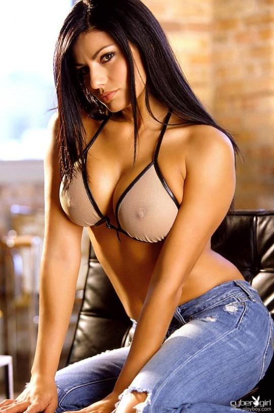 Melissa Puente in lingerie - breasts