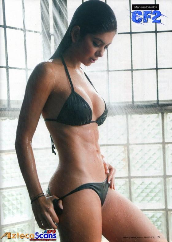 Mariana Davalos taking a shower