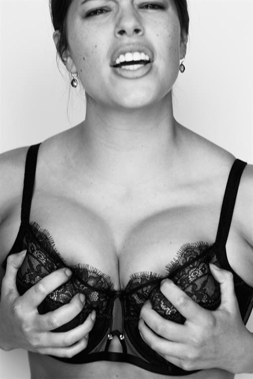 Ashley Graham in lingerie