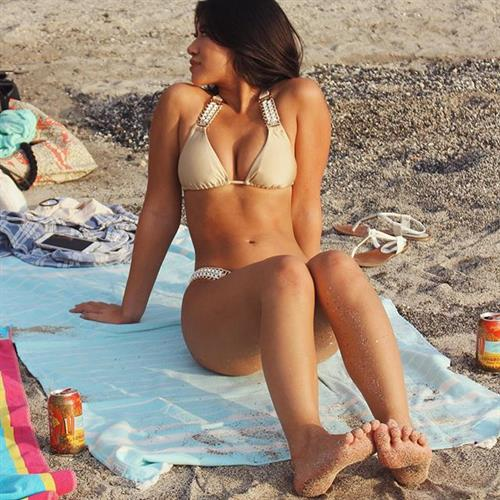 Julia Kelly in a bikini