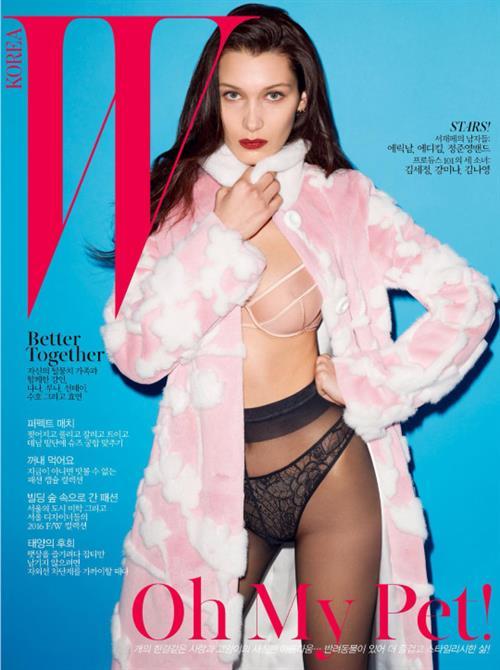 Bella Hadid in lingerie
