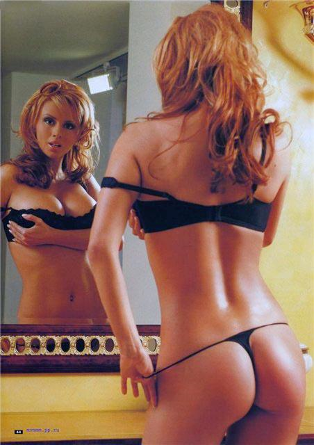 Anna Semenovich in lingerie - ass