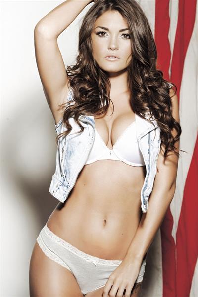 India Reynolds in lingerie