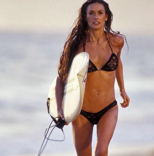 Demi Moore in a bikini