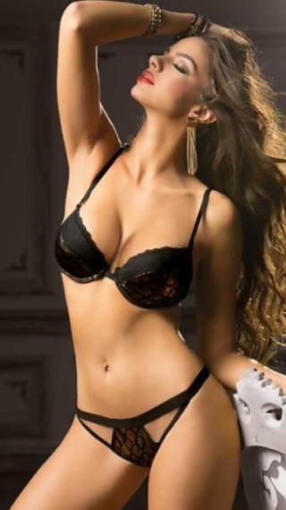 Priscilla Huggins Ortiz in lingerie
