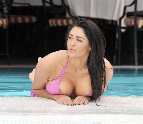 Casey Batchelor in a bikini