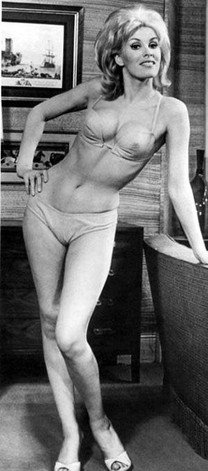 June Wilkinson in a bikini