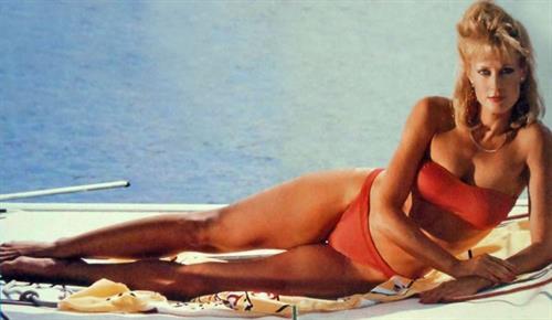 June Chadwick in a bikini
