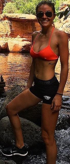 Andra Thompson in a bikini