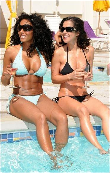 Melanie Brown in a bikini