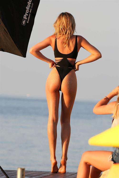 Abigail Clancy in a bikini - ass