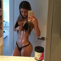 Anllela Sagra in a bikini taking a selfie