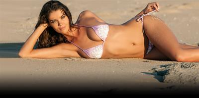 Natasha Barnard in a bikini