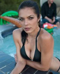 Adrianne Curry in a bikini