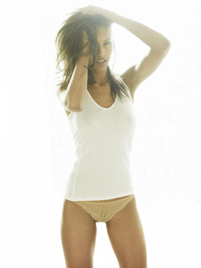 Alexandra Collins in lingerie