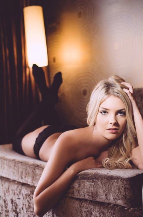 Sarah Louise Harris in lingerie