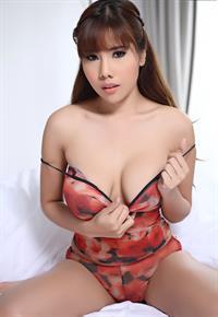 Aeko Jung in a bikini