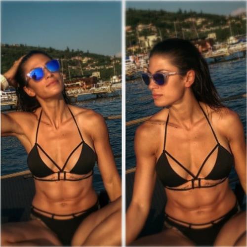 Ivana Španović in a bikini