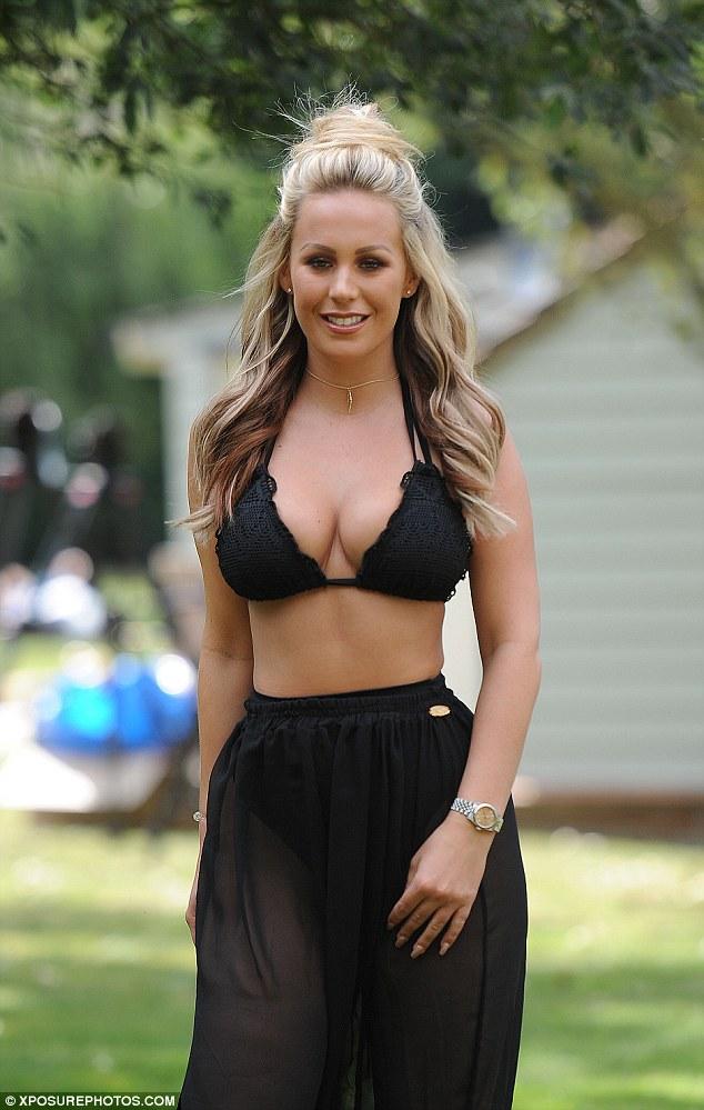 Kate Wright in a bikini
