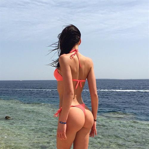 Galina Dubenenko in a bikini - ass