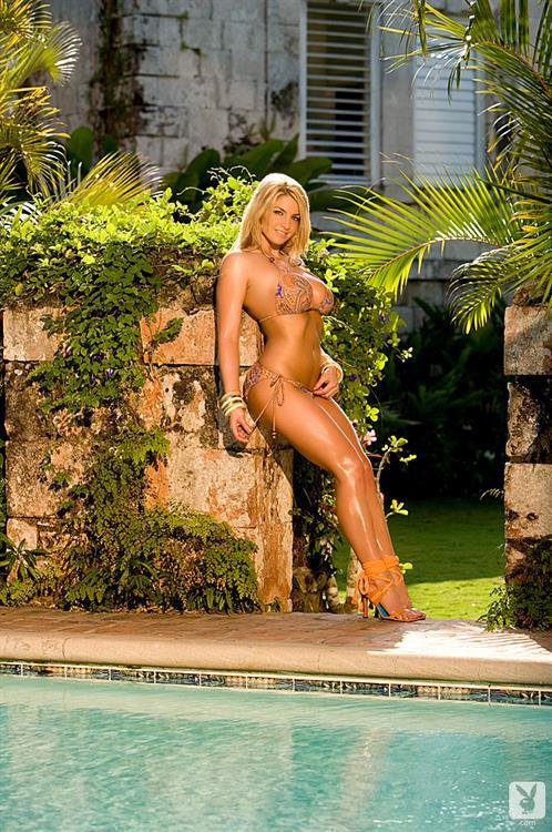 Breann McGregor in a Bikini Poolside