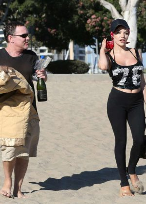 Courtney Stodden Bikini Candids at the beach in Venice