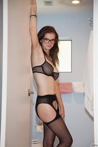 Essie Halladay in lingerie