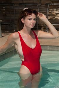 Essie Halladay in a bikini