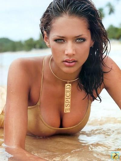 Lorraine Van Wyk in a bikini