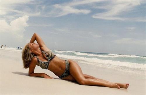 Amy Leigh Andrews in a bikini
