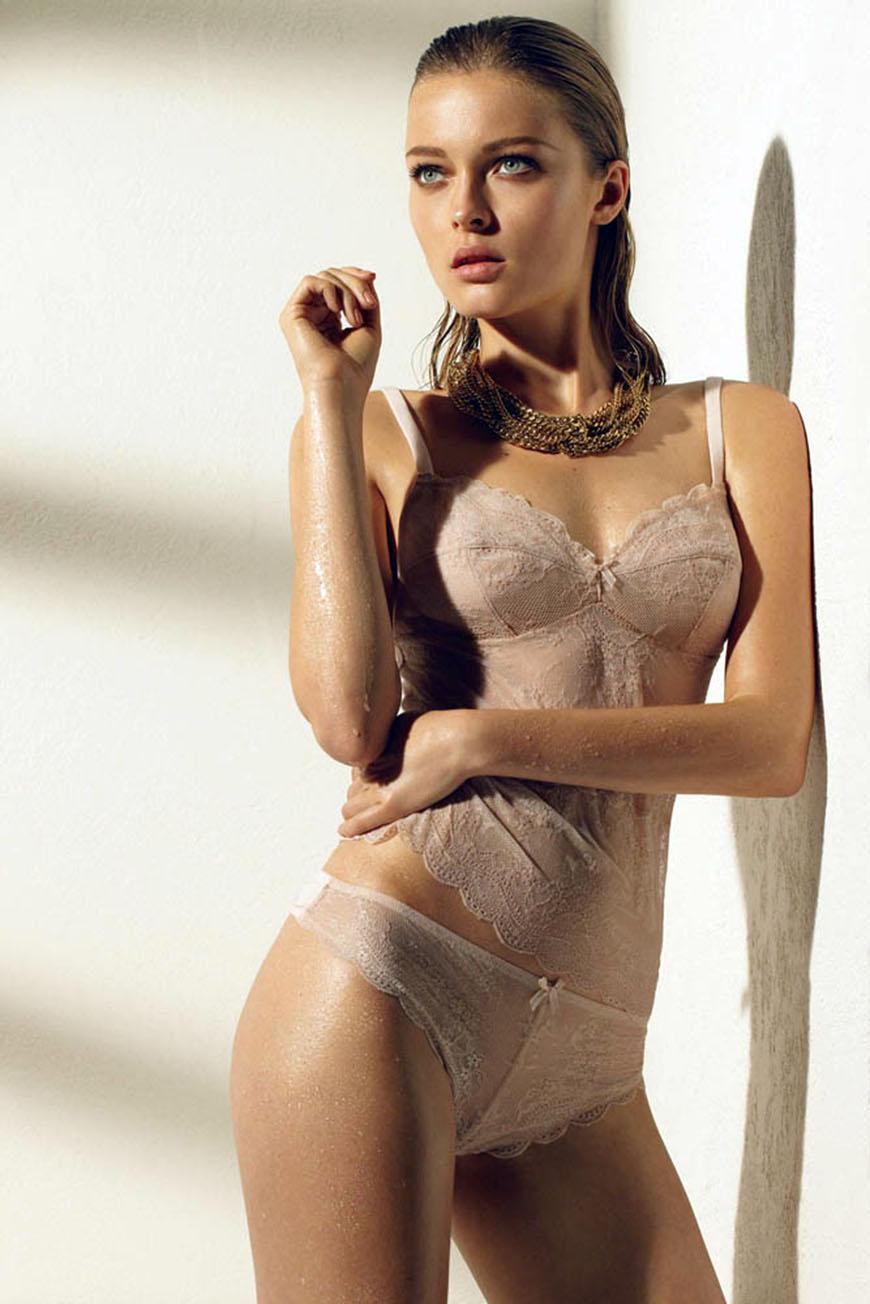 Olga Maliouk in lingerie