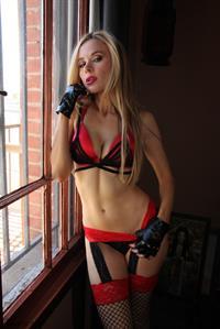 Paula Labaredas in lingerie