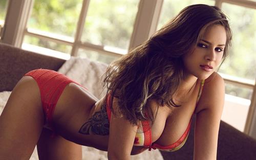 Nina James in a bikini