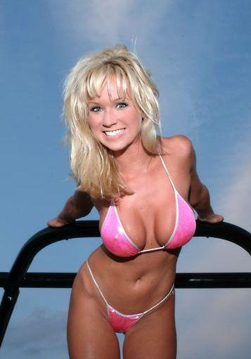 Mandy Ashford in a bikini