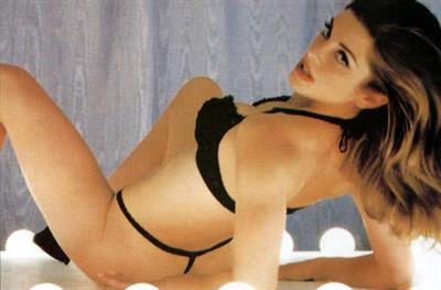 Cynthia Gibb in lingerie
